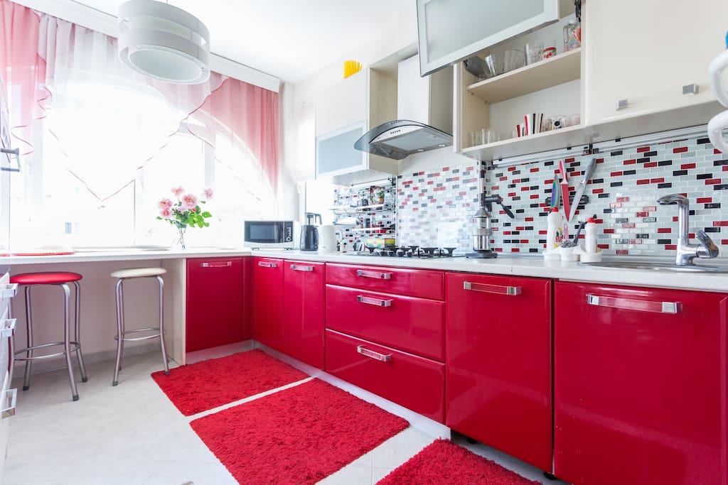 Nice kitchen / Новая красивая функциональная кухня