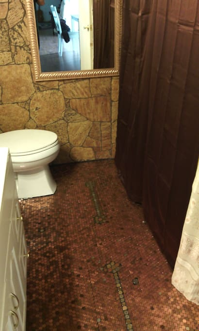 Penny floor bathroom