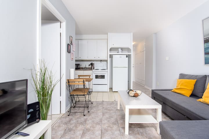Cozy apt Steps from McGill/Downtown+INDOOR PARKING