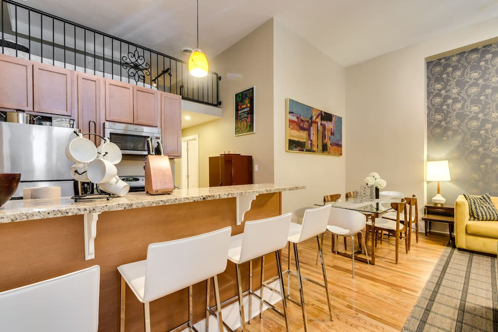 Apartment 1: Kitchen and Dining Area
