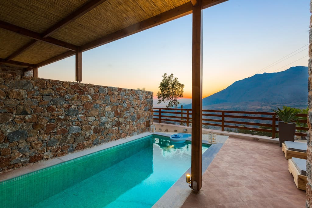 Sunset time in our villas will be unforgettable moments!