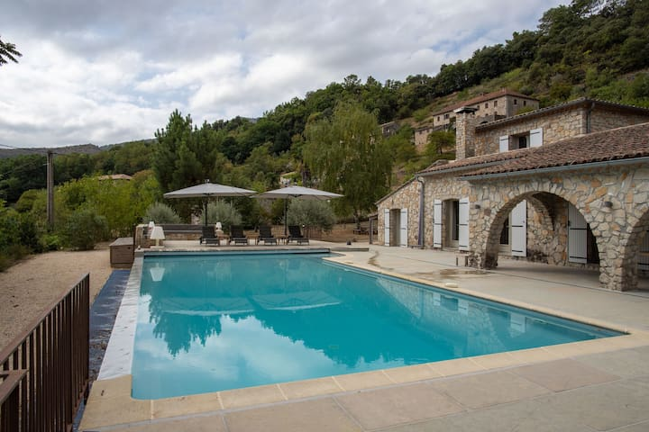 Beautiful villa in the south of the Ardèche, ideal for families with children