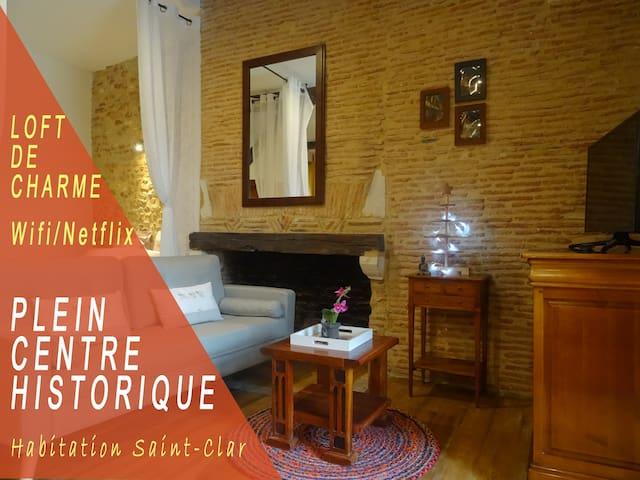 Centre Historique - Loft romantique - Wifi/Netflix
