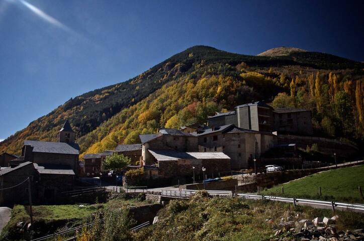 The village during autumn.