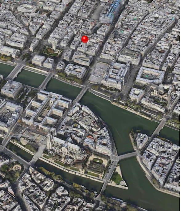 en plein centre de Paris