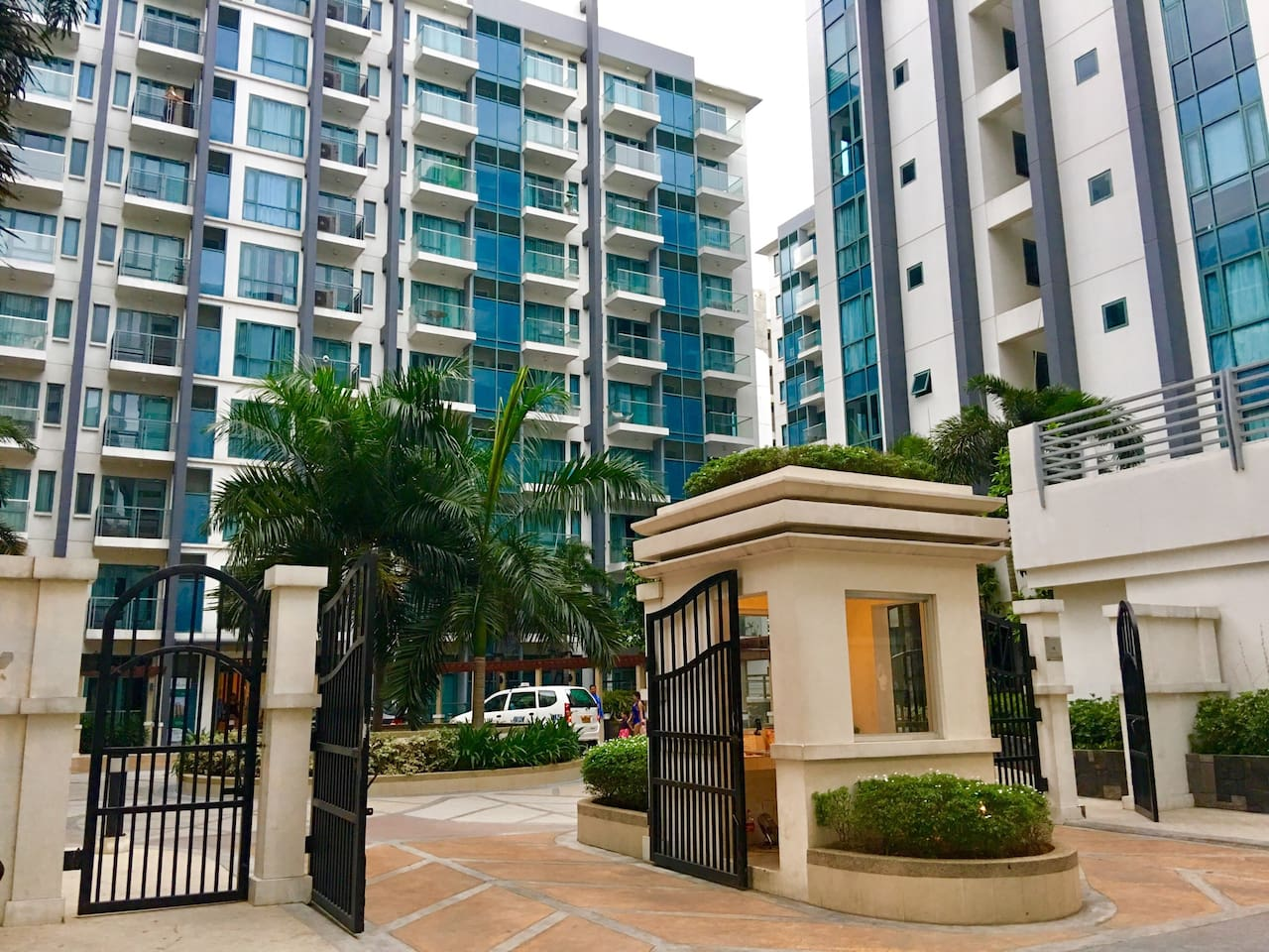 Our studio apartment is located at Palm Tree Villas 2 (gated and with strict security)