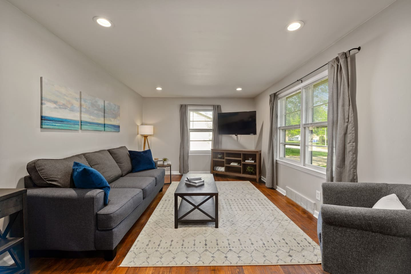 Adorable and cozy living area - wide open to the dining and kitchen
