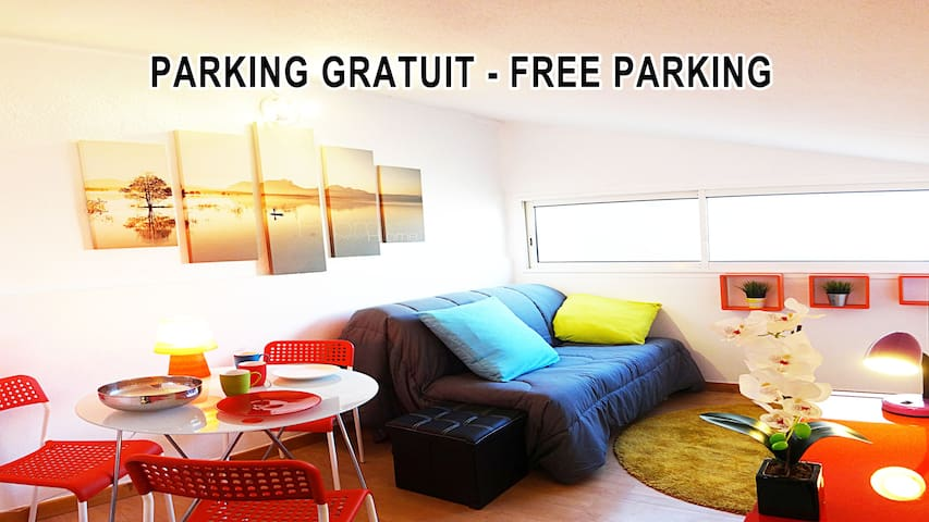CENTRAL Free parking - Montpellier