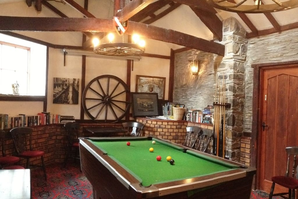 Traditional games room.