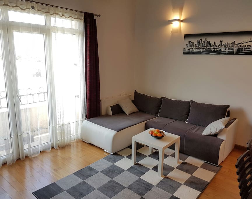 Living room with pull out soffa