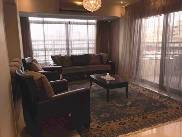 Reception, the couch can turned into a big setting area or a nice comfortable bed