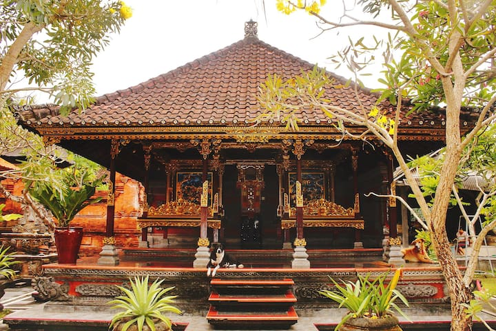 Traditional Balinese Compound Near The Beach