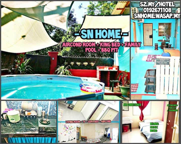 SNH 3room Home Sepang Nilai Klia Acond Wifi & Pool