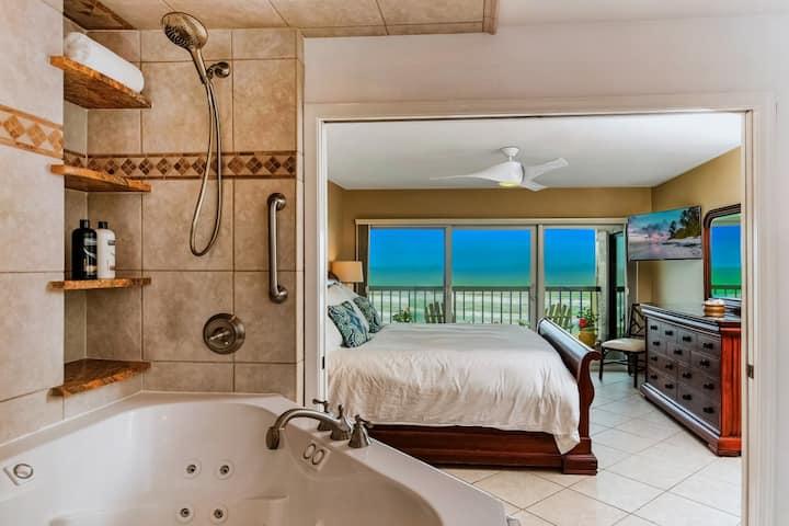 Amelia Island Oceanfront Penthouse 2 King Suites