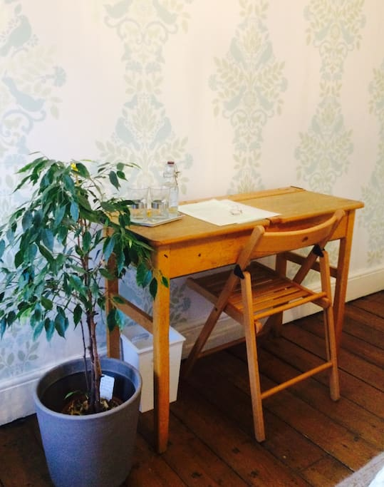 Vintage desk with choice of office chairs