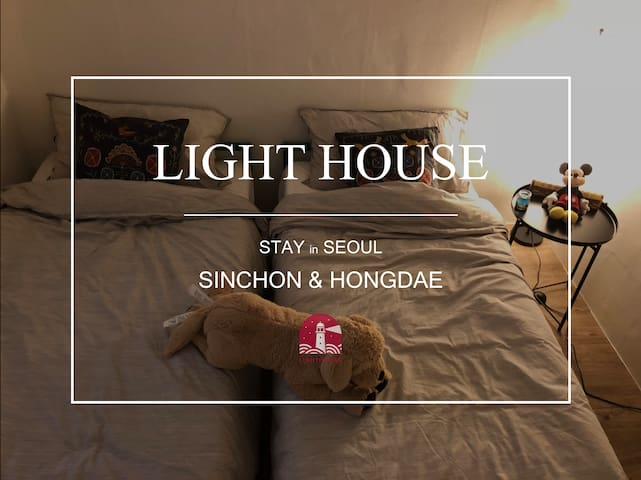 [2 Min from Sinchon stn]Private room two beds-01