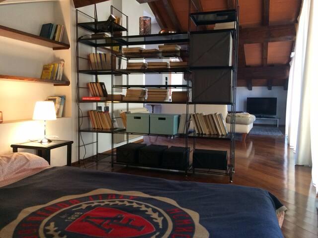 Romantica soffitta in centro, con terrazzino - Parma - Appartement