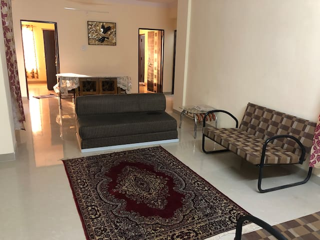 A 6th floor 3BHK suitable for friends & family