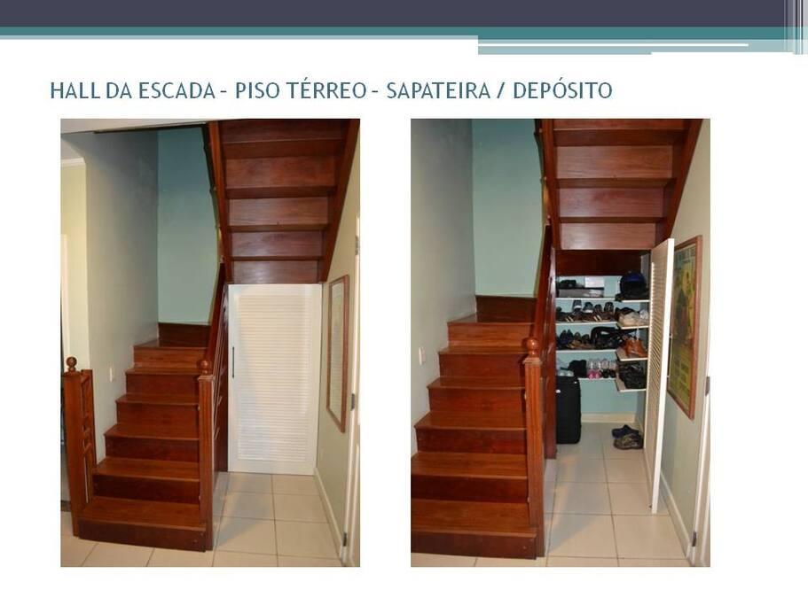 Escada acesso aos quartos
