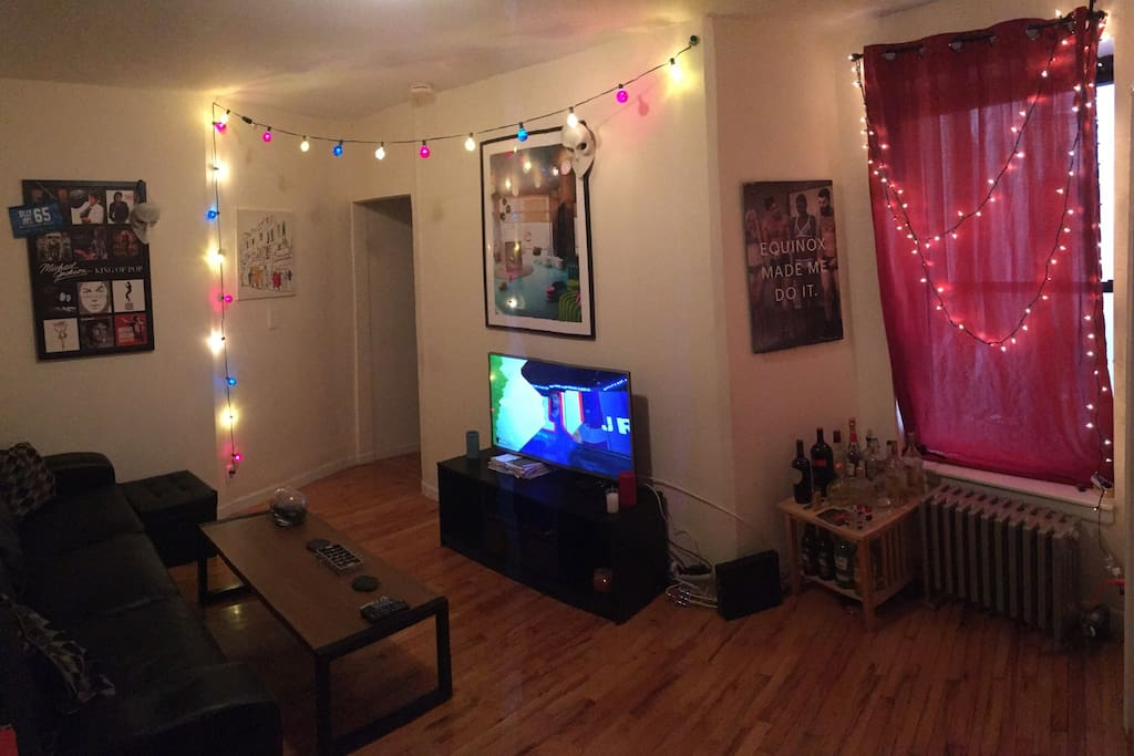 The living room. Sit, eat, relax, and watch some TV.