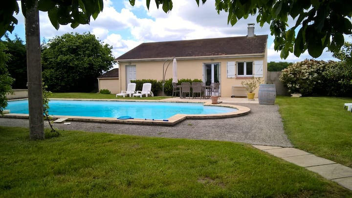 House with one bedroom in Ervauville, with private pool, enclosed garden and WiFi - 25 km from the beach