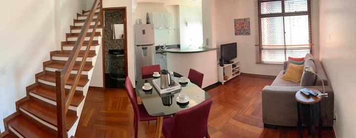 Aconchegante apartamento duplex em Centro/Lourdes
