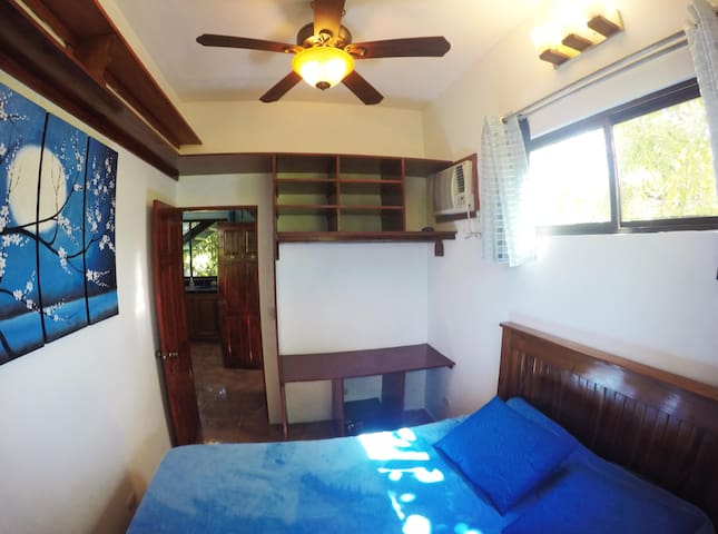 Bedroom with Queen Size Bed & AC