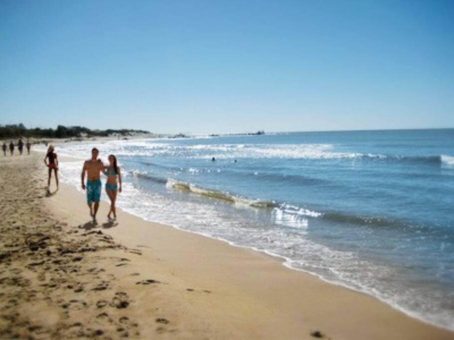 Caminata por playa