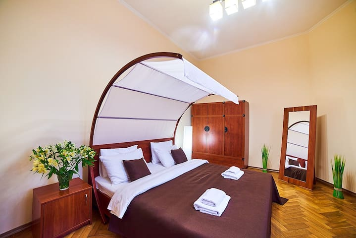 Cozy apartment in the center of Lviv with balcony - Lwów