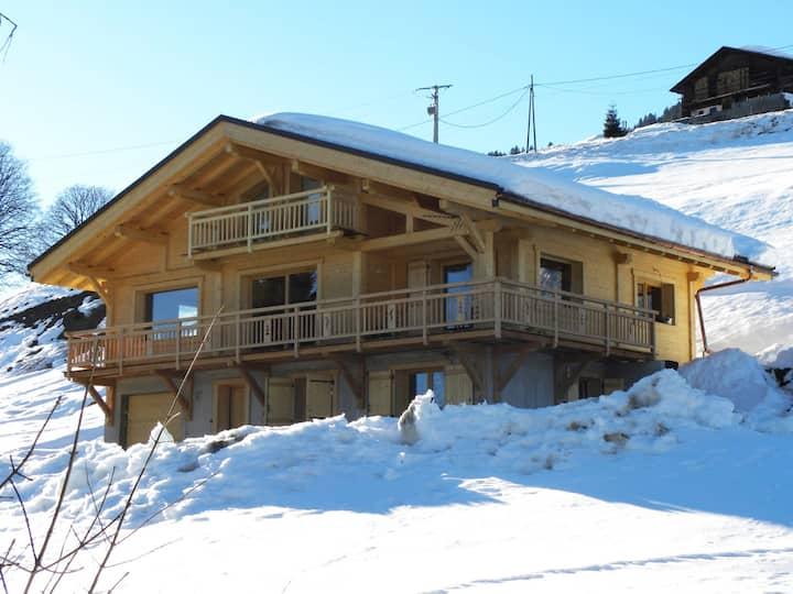 Appartement dans Chalet avec vue sur le Mont Blanc