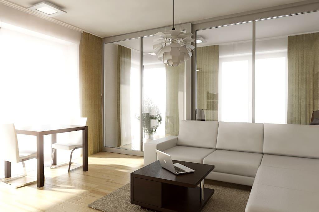 Living room + Winter gaden