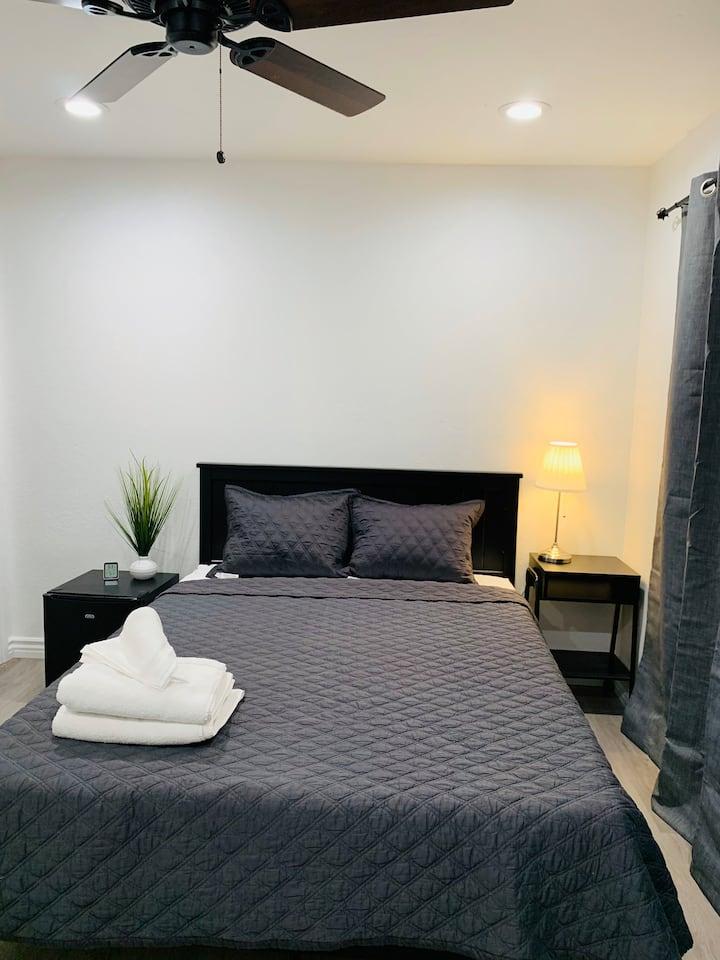 Cozy master bedroom in Silicon Valley