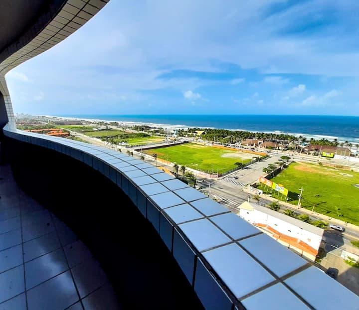 Apê completo 12º andar vista mar em todos cômodos