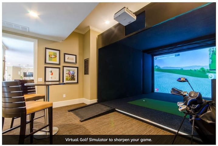 Luxury Living with Golf Simulator & Rental Car Opt