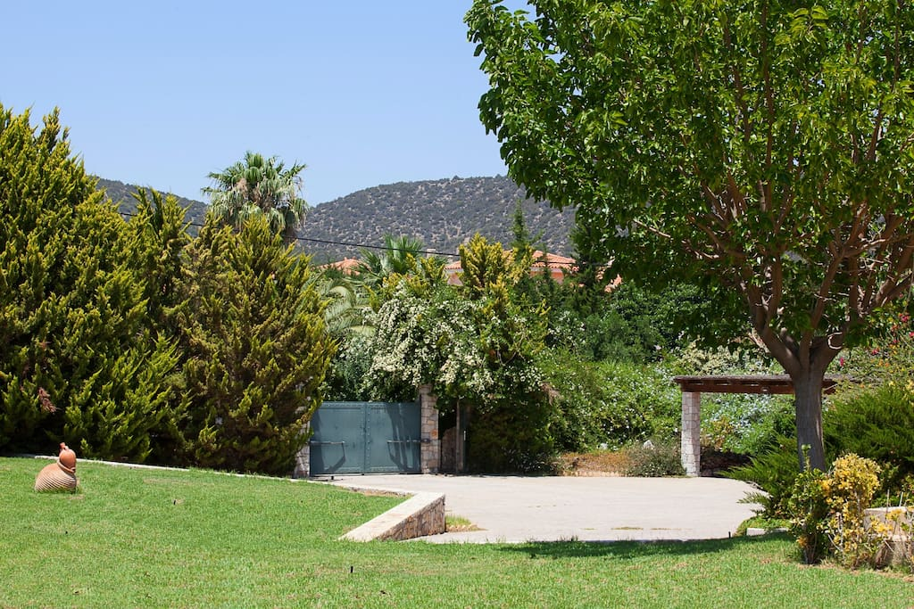 Garden view/ Car parking area