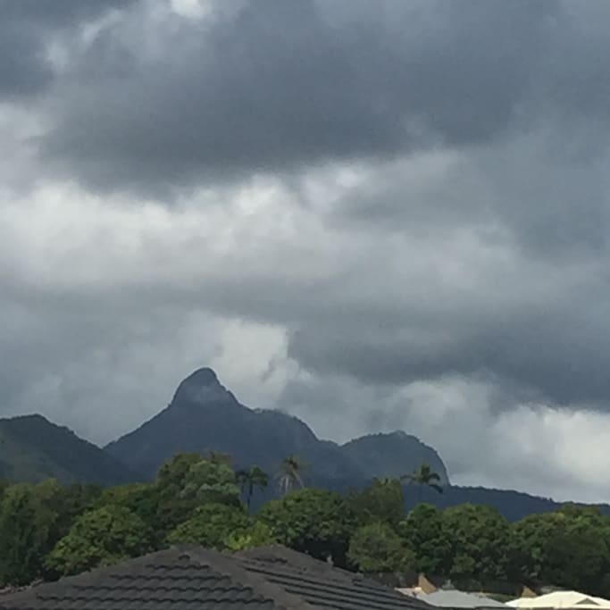 View of Mount Warning from our outdoor area