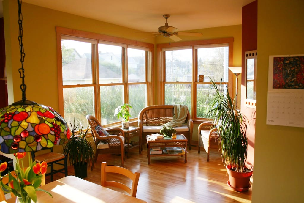 Sunroom off the kitchen