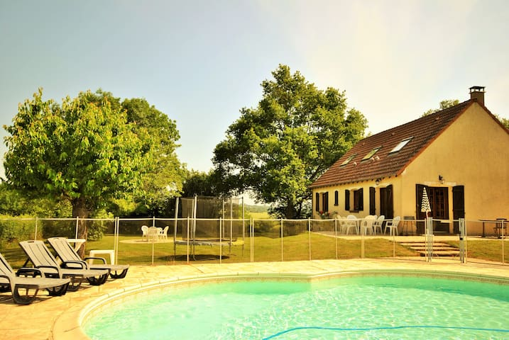 Les Sables, privé zwembad, kindvriendelijk, - Treigny - Casa