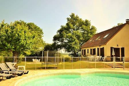 Les Sables, privé zwembad, kindvriendelijk, - Treigny