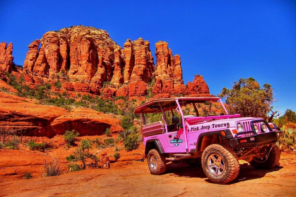 Pink Jeep Tours can be arranged at our Property. Voted BEST AirBNB Sedona Vacation Rental / SedonaJim Vacation Rentals #1 Sedona Rentals 25+ Years