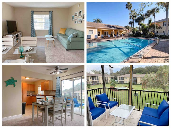 POOL OPENED - Peaceful 2-bedroom 6 min from Beach!