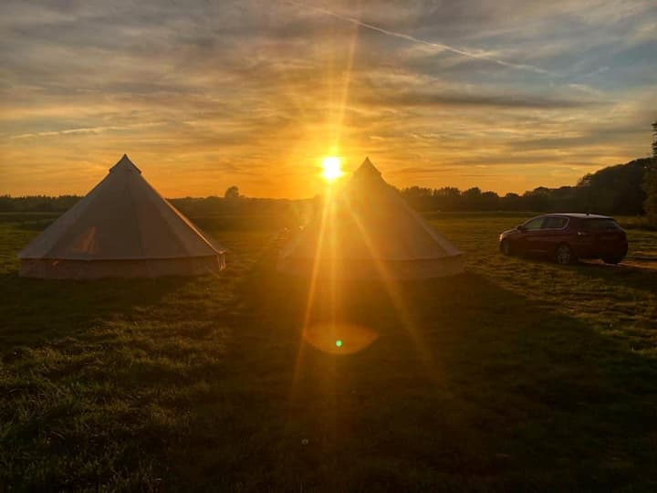 Unique, Picturesque Bell Tent Glamping Experience1