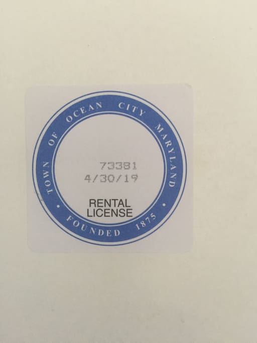 Rental license! Everything is been inspected by the city !!