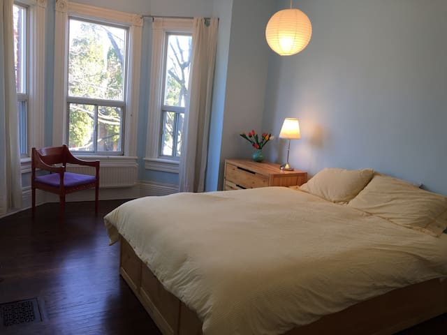 Bright Large Bedroom one block from Queen West