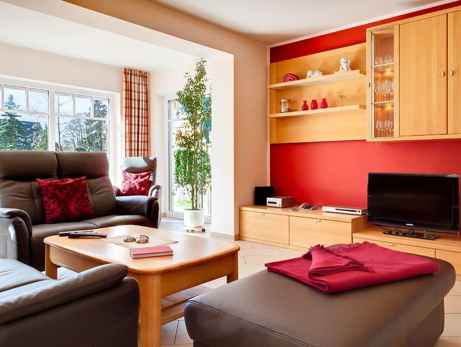 65 qm Wohnzimmer, Wintergarten