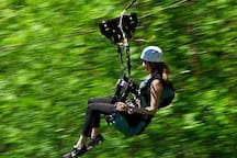 Zip-line - At the northern edge of the National Park, there is a Zip-line across the Korana river canyon. The line is 300 m long, and it picks up speeds of up to 65 km/h.