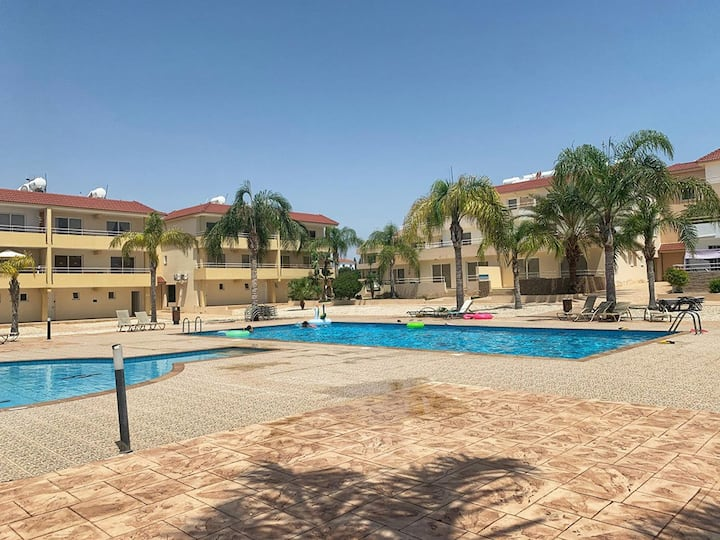 2BEDS & 2BATHS apartment Oasis near Nissi Beach E4