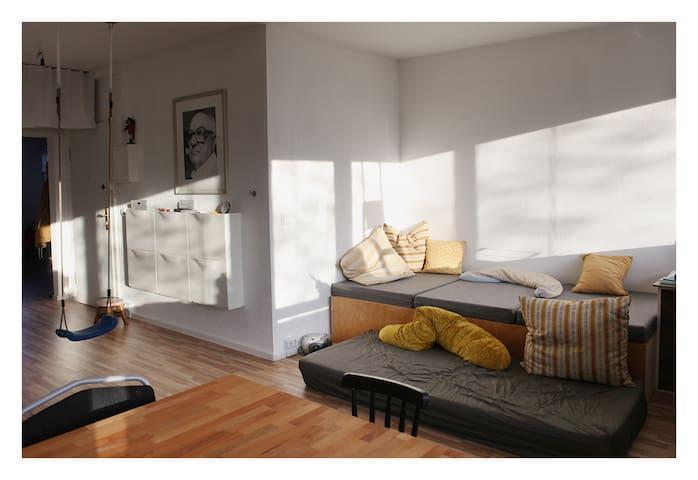 Wohnzimmer mit Blick n den Flur