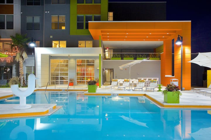 Downtown Luxury APT w/ Parking, Gym, Pool (Gated) - แจ็กสันวิลล์