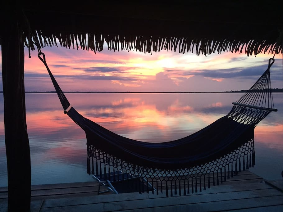 Watching sunsets from the hammock